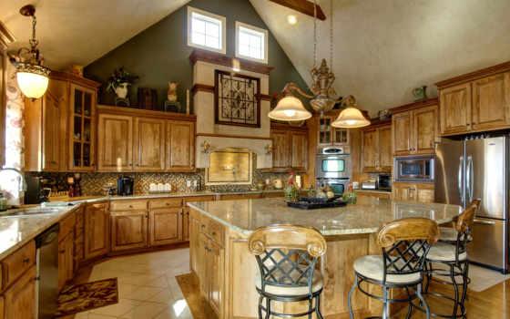kitchen, wooden, design, кухни, интерьер, стулья,