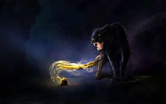 panther, кот, пантеры, хищник, cute, черная, art, фотографий,