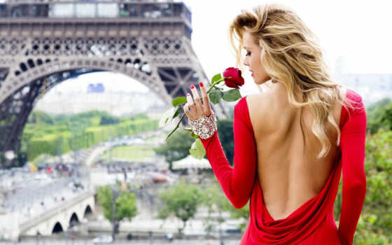 платье, женщина, red, blonde, спина, lambre, женский, запах