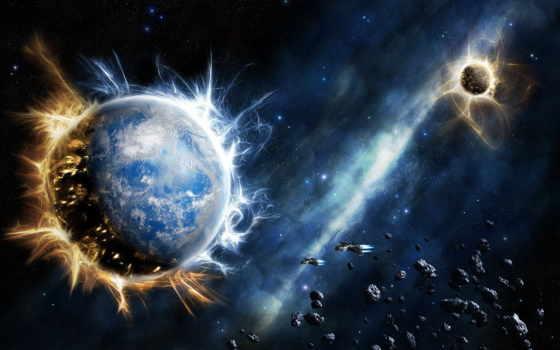обои, космос, фото, взрыв, планеты, космический, r
