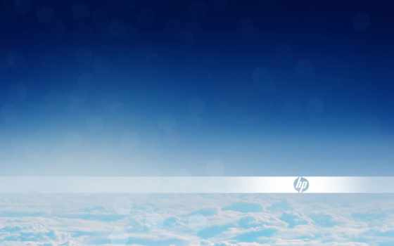 hp, logo, clouds, desktop, hewlett, packard,