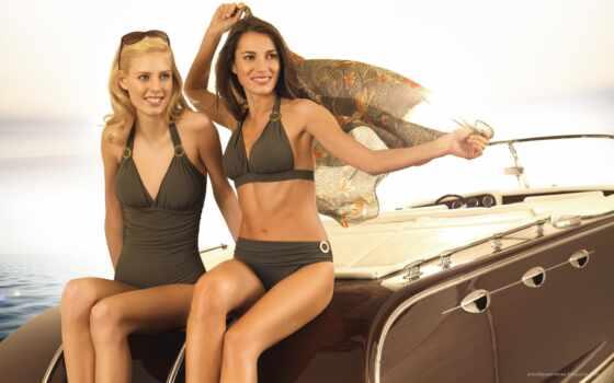 girls, яхта, underwear