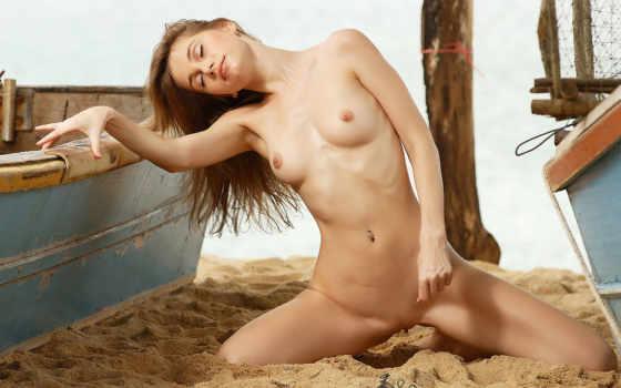 пляже, голые, devushki