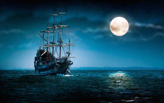 корабли, автора, вышивки