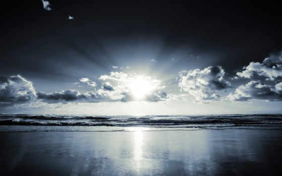 ocean, берег, blue