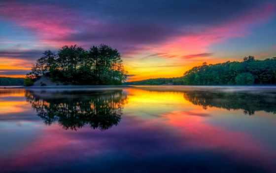остров, widescreen, восход, массачусетс, colorful, images,