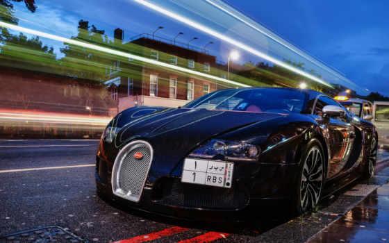 bugatti, veyron, дождь