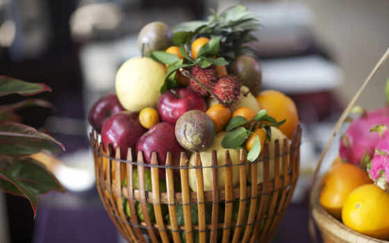 фрукты, корзина, фруктов