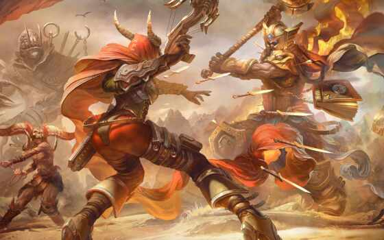 дрель, герой, битва, tamplierpainter, diablo, blizzcon, воин, vseyat, арта, буря