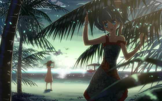 картинку, картинка, hinh, save, anime, девушки, max, море, пароль, пальмы, cartoon, выберите, кнопкой, правой, мыши, скачивания,