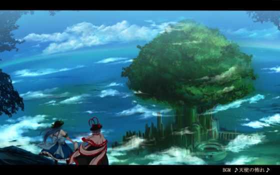 аниме, изображение, picsfab, touhou, hair, nagae, iku, hinanawi, похожие, tenshi, nekominase, фабрика, картинок, with,