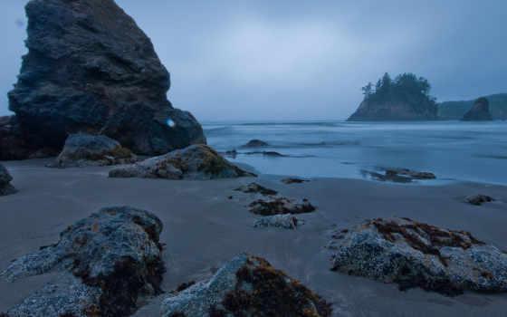 пляж, stock, rocks
