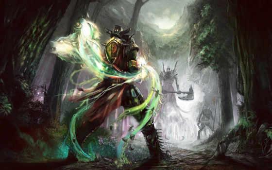 fantasy, art, лес
