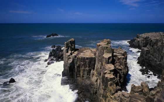 скалы, море, waves