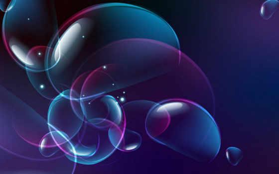 красивые, пузыри, широкоформатные