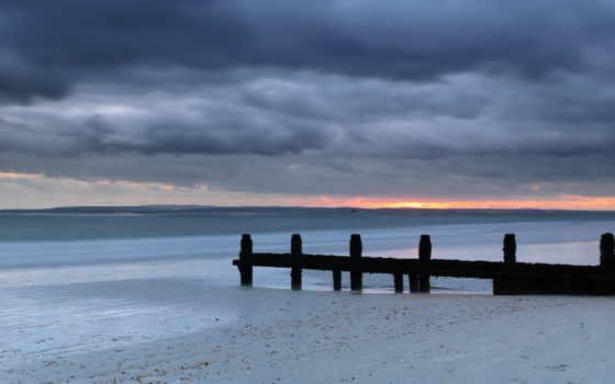 пляж, закат, море Фон № 102841 разрешение 1920x1080