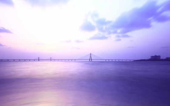 мост, mumbai, shivaji, park, images, clouds, море,