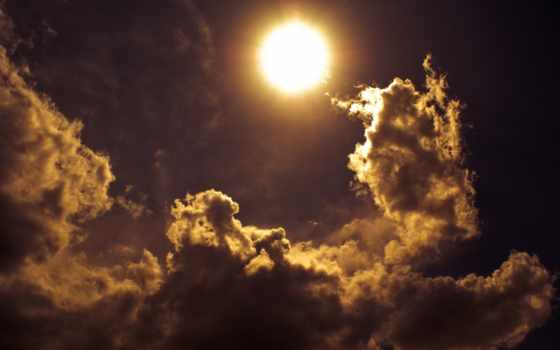 clouds, shadows, закат, sun, free,