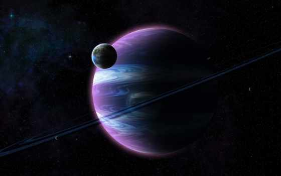 , планета, земля, кольца, свет,