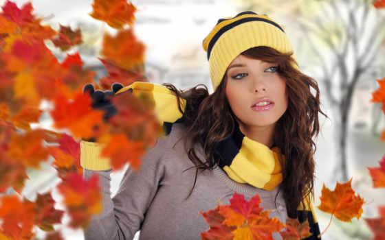 девушка, осень, devushki, winter, осени, сидит, под, дождь,