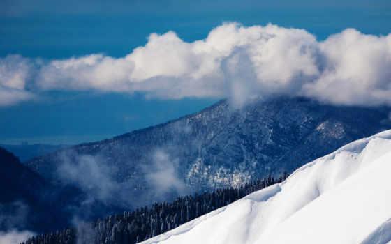 сочи, landscape, горы, красная, природа, russian, краснодарский, oblaka, гора, снег,
