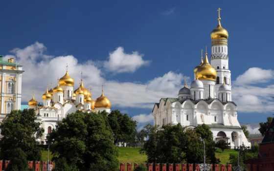 cathedral, москва, кремль, россия, благовещенский, archangel, город,