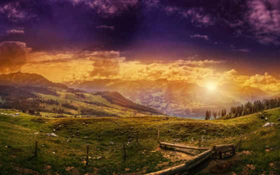 горы, небо, природа, закат, скинали, кухни, distance, заоблачная,