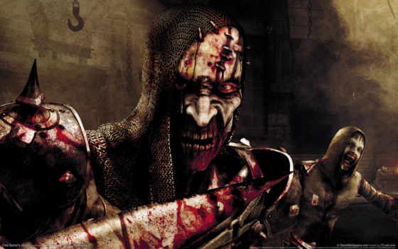 jericho, بک, clive, barker, desktop, картинку, кровь, зомби, free, ужас, латы, from, игрой,