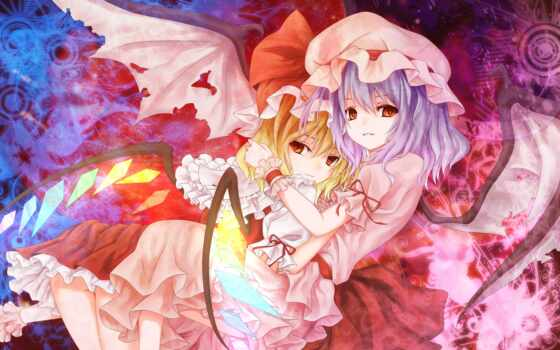 touhou, аниме, remilia, scarlet, flandre, фландр, скарлет, collection, ремилия, ½project, hakurei, photo, reimu, girls,