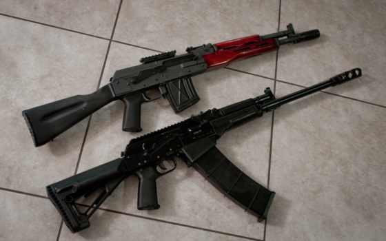 машина, акс, оружие, сайга, карабин,