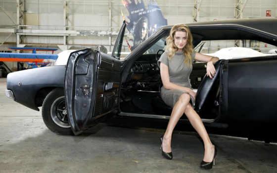 девушка, машина, devushki, blonde, открытой, машины, дверью, банка,