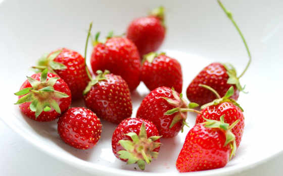 клубника, еда, desktop, изображение, природа, strawberries, табличка,