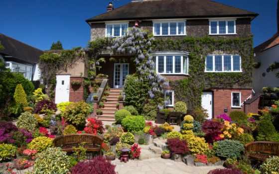design, landscape, здания, кусты, walsall, garden, сады, фото,