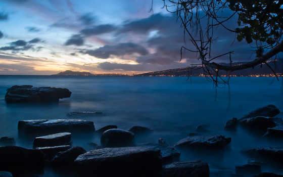 закат, mobile, море, природа, красивый, android, app, берег