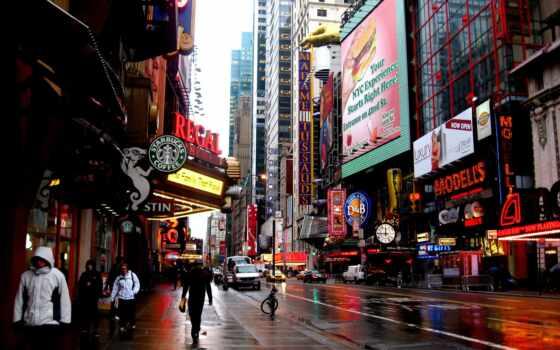 new, york, улица, manhattan, город, borough, фотоаппарат, снег, winter