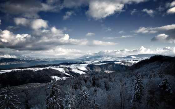 winter, снег, landscape