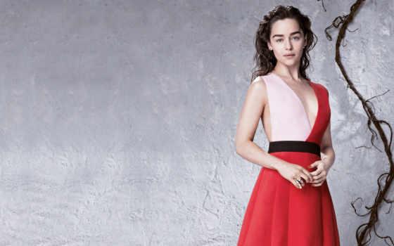 emilia, clarke, платье