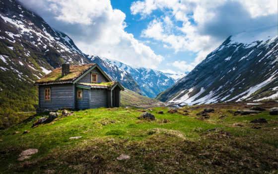 норвегия, lodge, горах, горы, качественные, house, фотографий, предпросмотром,