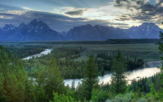 wyoming, grand, teton, горы, forests, лес, national, usa, паркс, scenery, изображение,