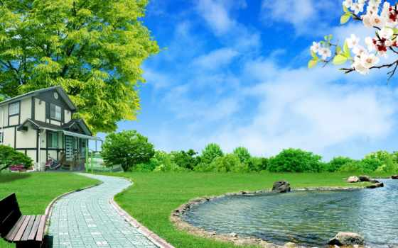 природа, summer, рисунки, trees, arkhitektura, youtube,