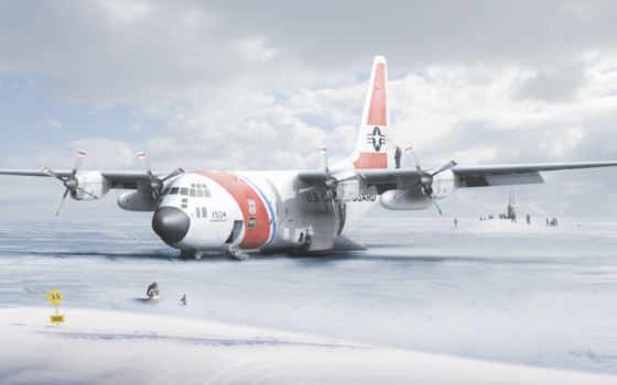 самолет, антарктида