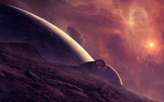 космос, art, nebula