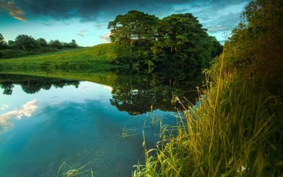 природа, река, summer Фон № 81131 разрешение 1920x1200