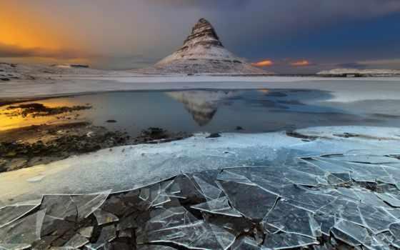 iceland, снег, гора, горы, природа, лед, water,
