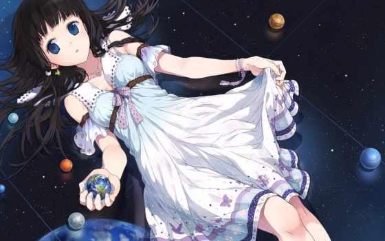 anime, zerochan, planet, девушка, изображение, cosmos, gallery, доска,