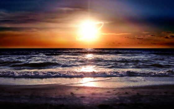 sun, закат, ocean, море, rising, волна, рассвет, горизонт, permission
