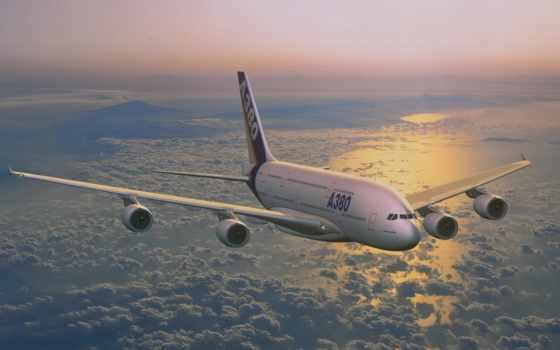 airbus, полет Фон № 21385 разрешение 1920x1200