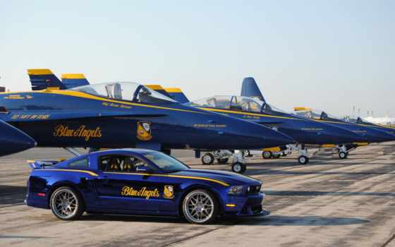 blue, angels, mustang