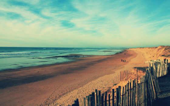 пляж, море, песок, ocean, берег, волны,