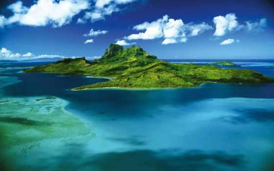 bora, остров, французской, полинезии, pearl, океана, тихого,